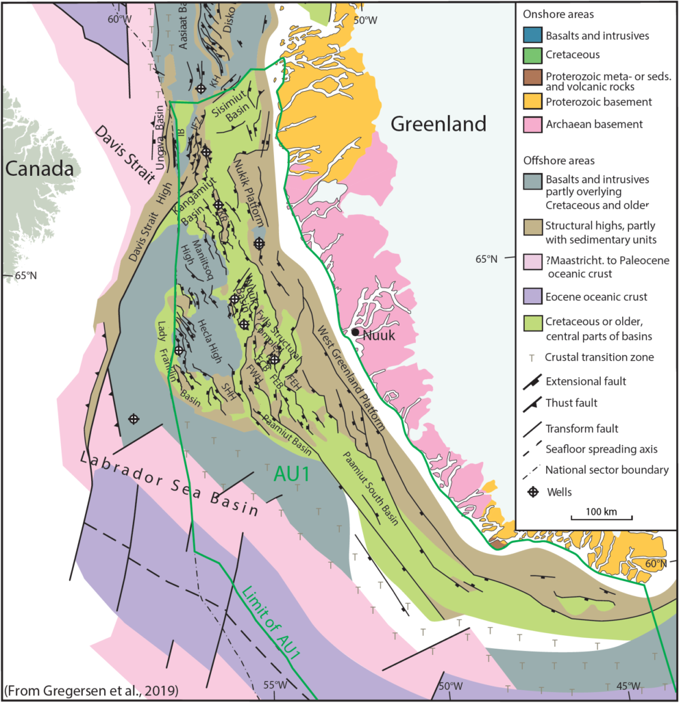 Tectonic elements of southern West Greenland